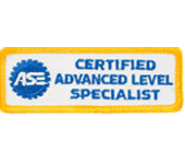ASE Certified Advanced Level Specialist